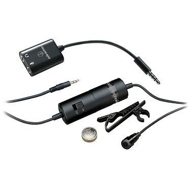Audio-Technica ATR3350iS Lavalier - Microfone de Lapela p/smartphone