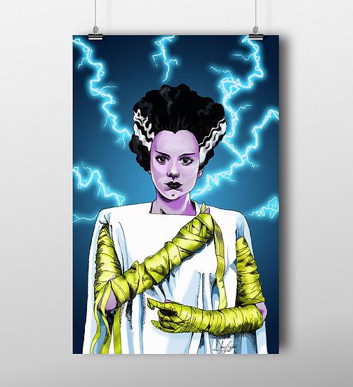 Bride of Frankenstein 11x17 Print