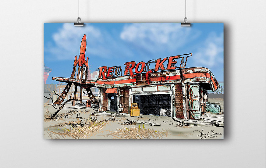 Red Rocket 11x17 Print