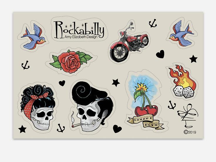 Rockabilly Sticker Sheet