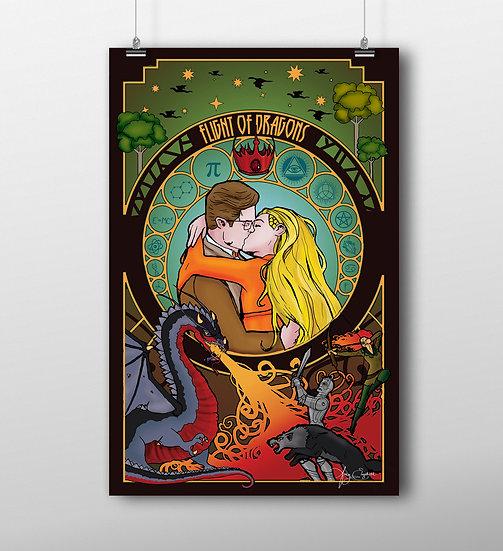 Flight of Dragons 11x17 Print