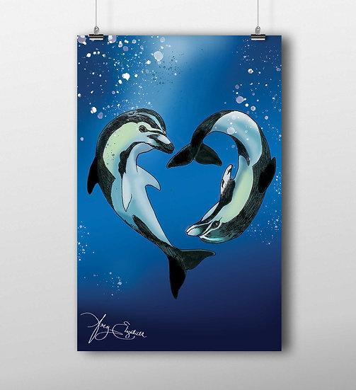 Dolphin 11x17 Print