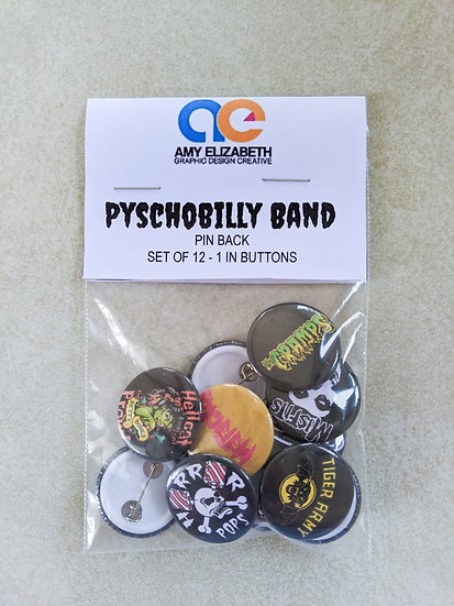Psychobilly Band Pin Set
