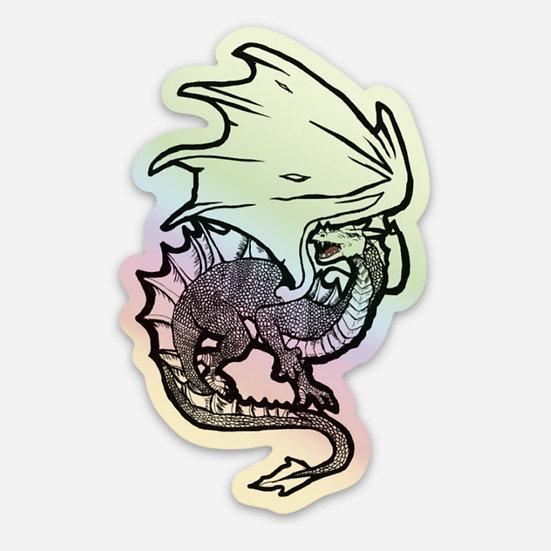 Holographic Dragon Sticker