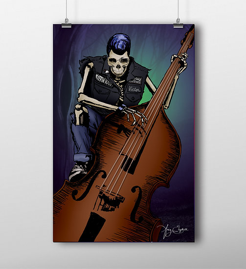 Dead Basist 11x17 Print