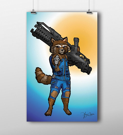 Rocket 11x17 Print