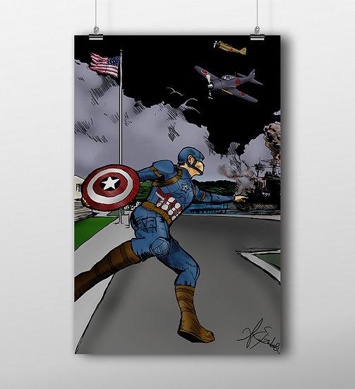 Captain America 11x17 Print