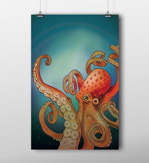 Octopus 11x17 Print