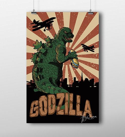 Godzilla 11x17 Print