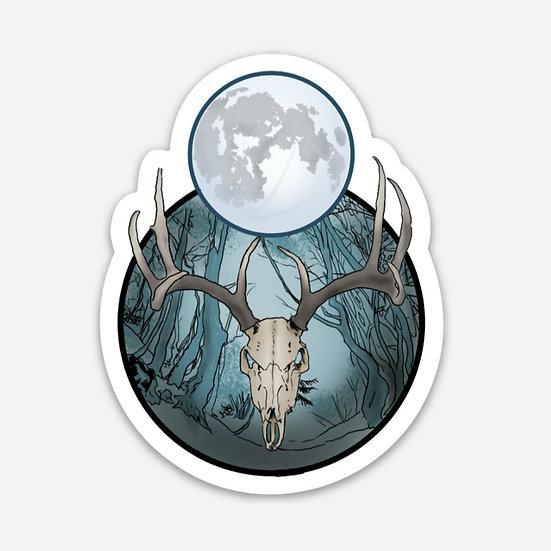 Elk moon Sticker
