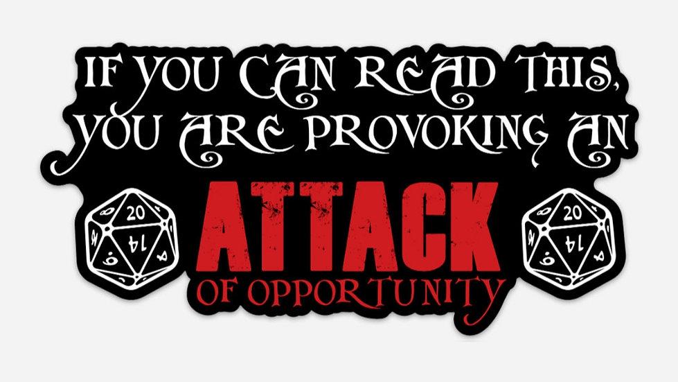 Attack of Opportunity Bumper Sticker