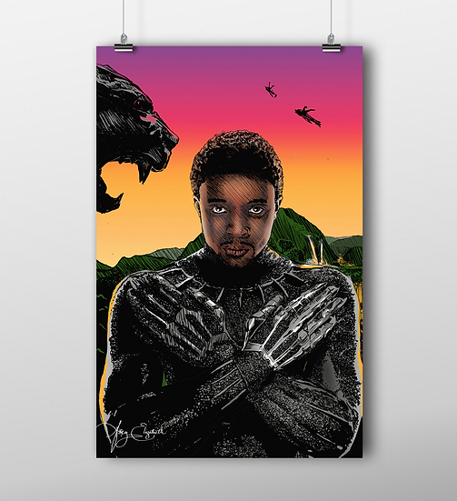Black Panther 11x17 Print