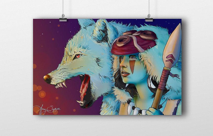 Princess Mononoke 11x17 Print