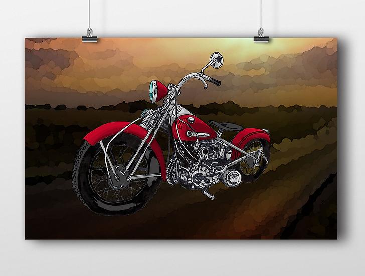 Motorcycle 11x17 Print