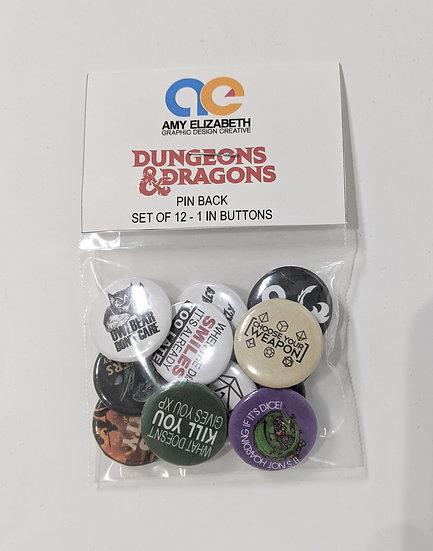 D&D Pin Set