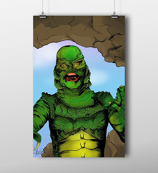 Creature from the Black Lagoon 11x17 Print