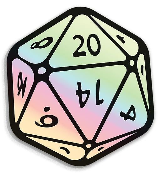 20 Sided Die Sticker