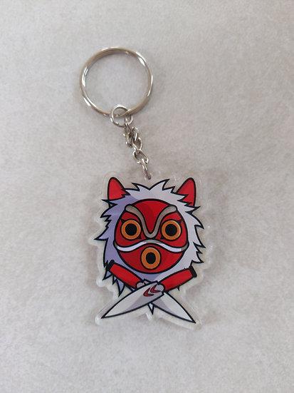 Mononoke mask keychain
