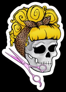 Barber Skull Sticker