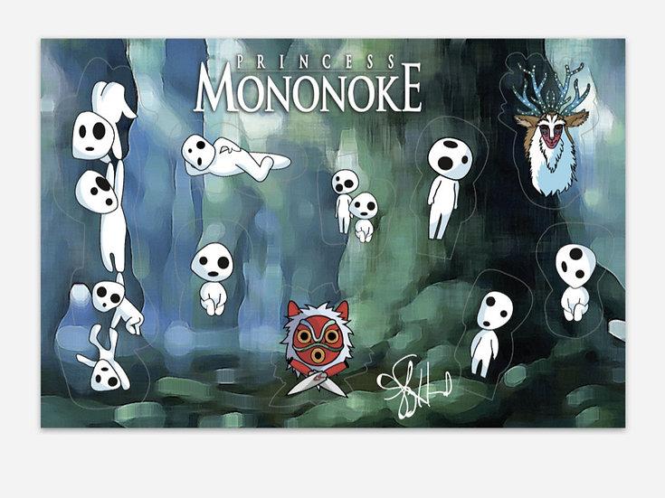 Princess Mononoke Sticker Sheet