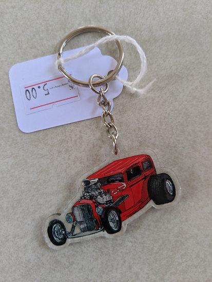 Hot Rod Keychain