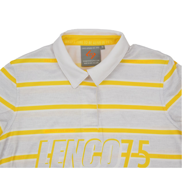 75 - HERITAGE RUGBY CROPPED POLO, RECYCLED FABRICS
