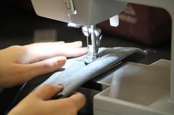 Me sewing something cool
