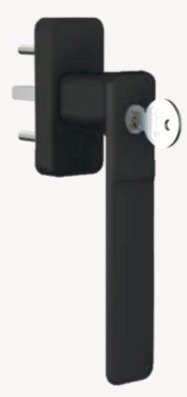 Manija tres posiciones con llave para multipunto de puerta - ventana corrediza.