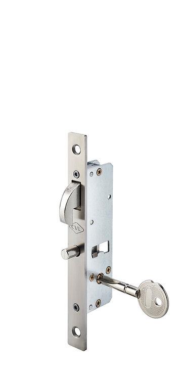 Cerradura con Llave Tetra y Bulón Reversible para Puerta Corrediza Entrada 20 mm