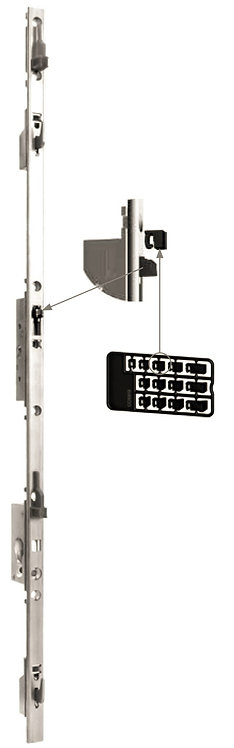 Multipunto Gancho Regulable para Puerta – Ventana Corrediza 1.6 mt