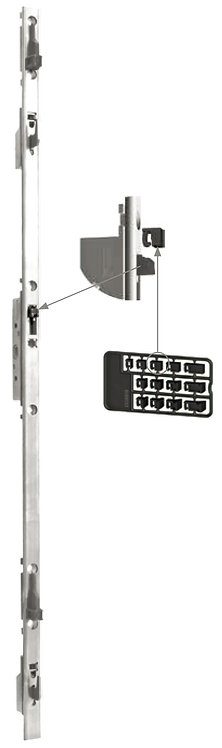 Multipunto con Llave y Gancho Regulable para Puerta – Ventana Corrediza 1.0 mt
