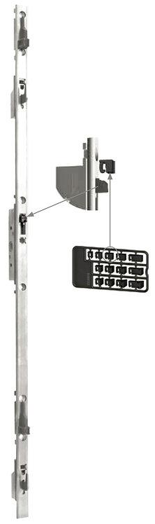 Multipunto con Llave y Gancho Regulable para Puerta – Ventana Corrediza 1.8Mt