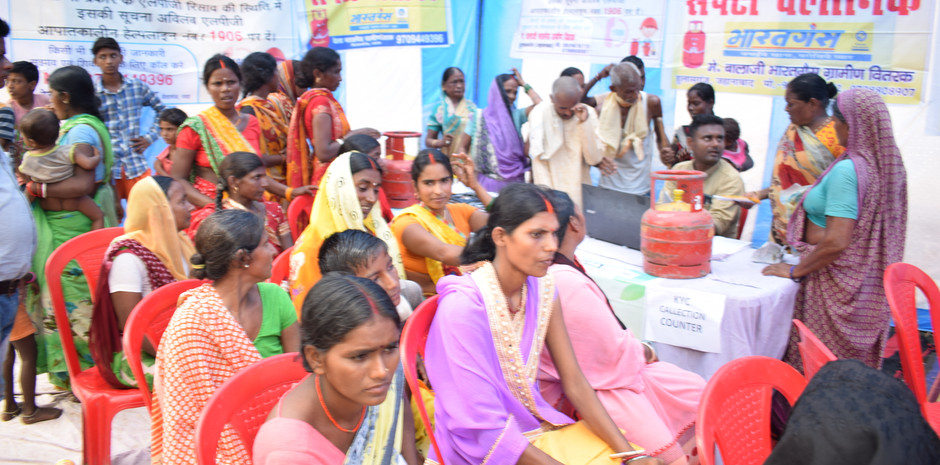 We had a gas conservation and safety cap set up near the exit of out medical camp. This was a facility set up by Bharat Petroleum and it gave our patients important information on gas usage and they also provided needy families with free cylinders of gas!