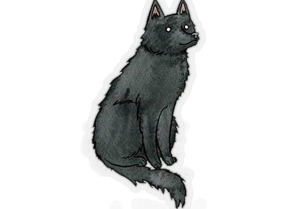 Black Wolf Stickers