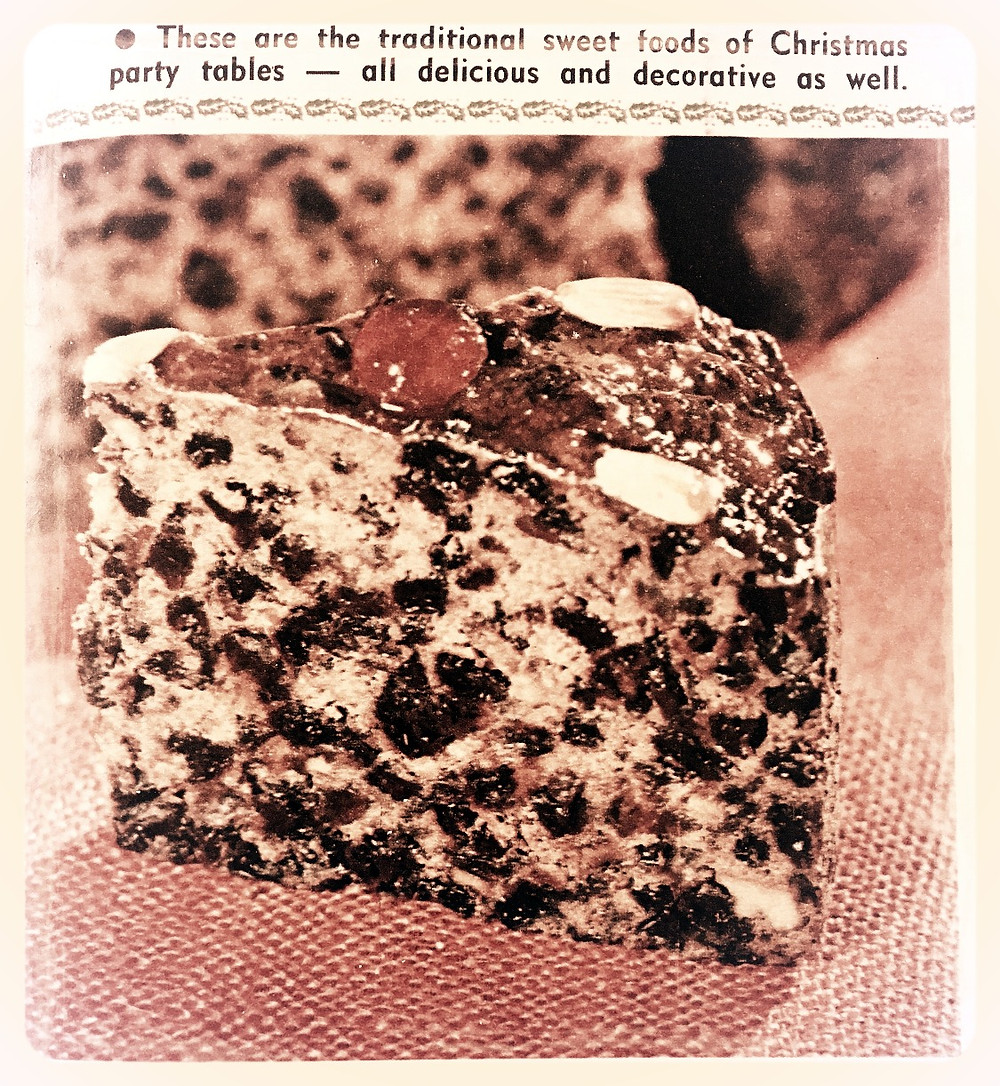 Close up Rich Fruit Cake Australian Woman's Weekly Nov 1966