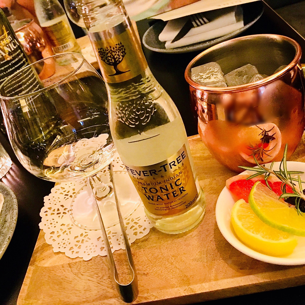 Deconstructed Gin & Tonic from the Tipsy Bull
