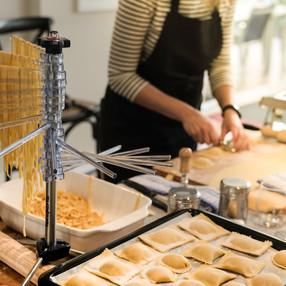 Hand-cut ravioli at Relish Cooking School