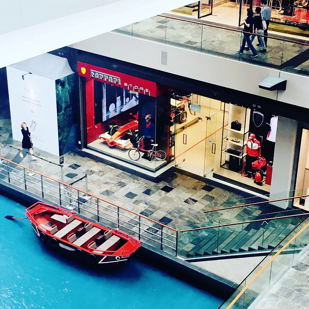 Gondola and Ferrari shop - Marina Bay Sands