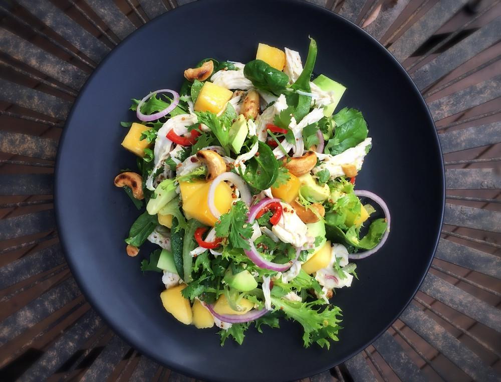 Chicken, Mango and Cashew Salad