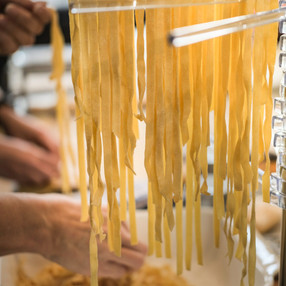 Hand crafted tagliatelle at Relish Cooking School