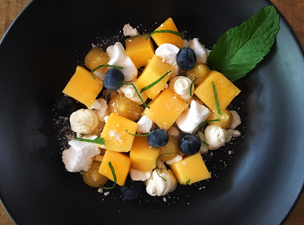 Fancy Pants - Mango and Blueberry Eton Mess