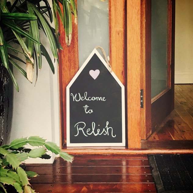 Relish cooking school welcome