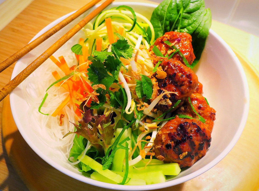 Bun Cha salad bowl