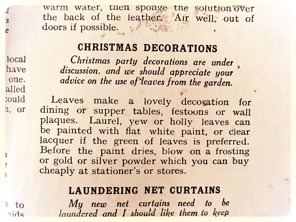 Woman Weekly 1966 Christmas decoration tips article