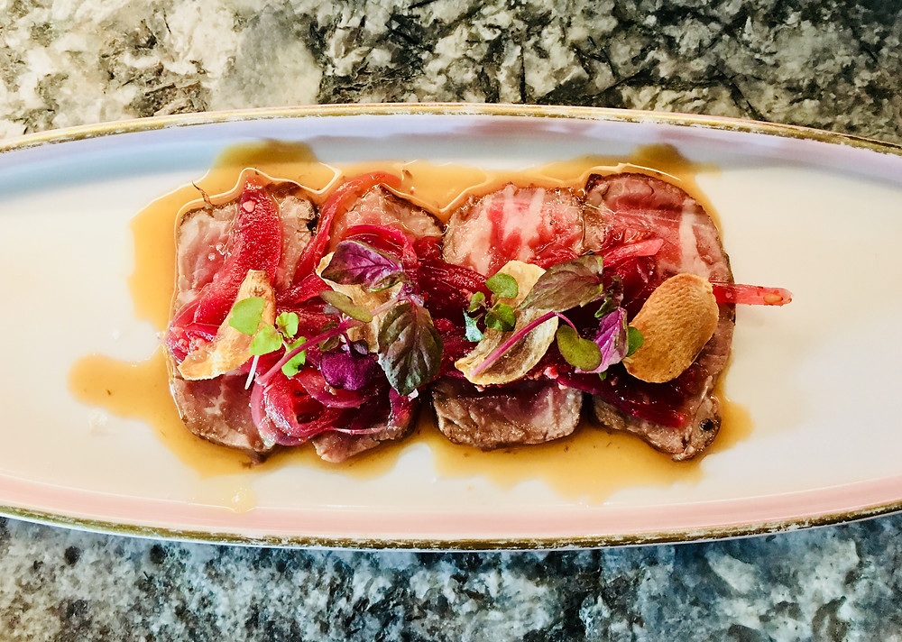 Raku Dinning - seared 150-day angus beef
