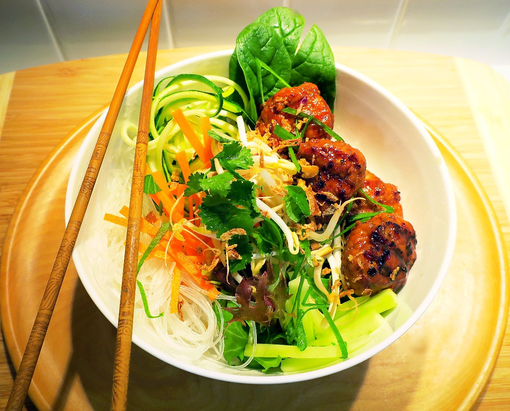 Relish's Bun Cha salad bowl