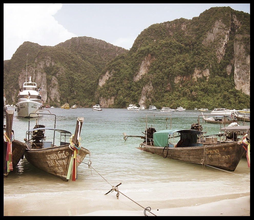 The marina at Phi Phi Island, Thailand
