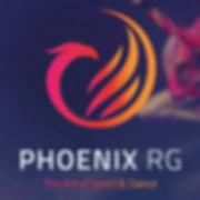 Rhythmic Gymnastics, London, Gymnast, Jump, Stag, Backbend, Red Leotard, Phoenix RG, Phoenix, Logo, Art, Sport, Dance, Ballet