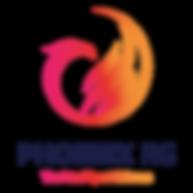 Rhythmic Gymnastics, Gymnast, Jump, Stag, Backbend, Red Leotard, Phoenix RG, Phoenix, Logo, Art, Sport, Dance, Ballet