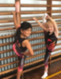 Gymnast, ribbon, balance, gymnastics, ballet, dance, purple, black, tiptoes